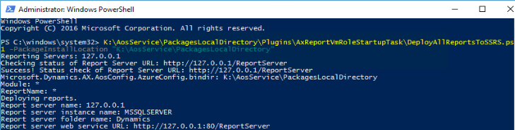 Deploy all reports oncloud
